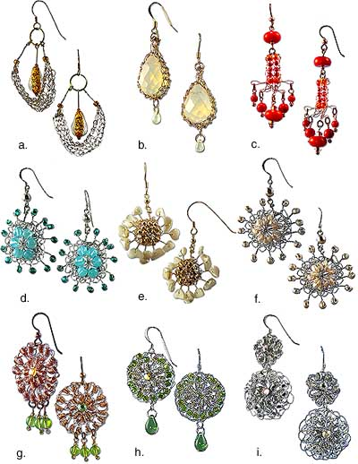 LC2430 Beaded Necklace and Earrings - Sewing, Needlecraft, Thread