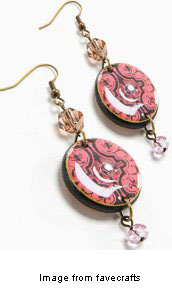 decoupage dangle earrings from favecrafts